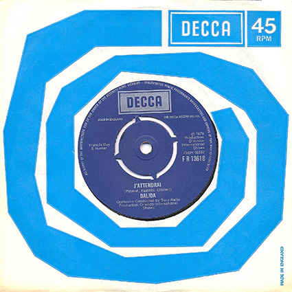 45 t : DECCA Single 13618