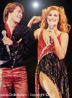 Bruno Guillain et Dalida  / 1978